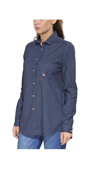 Maloja BlossomM. overhemd en blouse lange mouwen Dames blauw